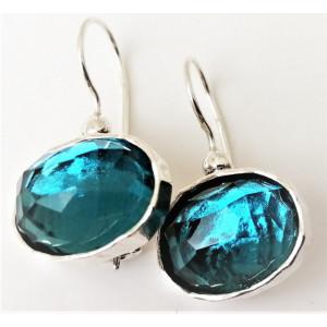 Cercei argint E2710 blue topaz