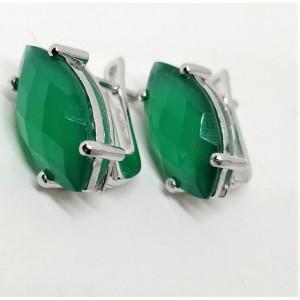Cercei argint onix verde -VE012935