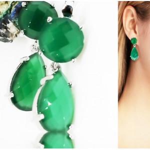Cercei argint onix verde-VE030223