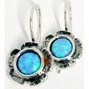 Cercei argint opal E1053