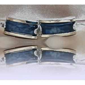 Cercei argint si aur 14k -200508 kyanit