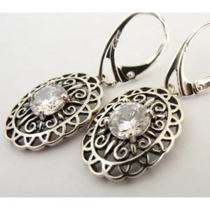 Cercei argint zircon E2874