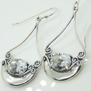 Cercei argint -zircon E9733