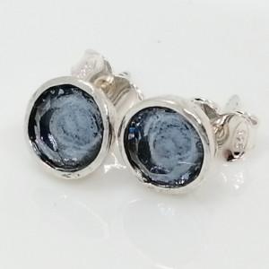 Cercei cu surub -E11821-2 cristal culoare safir