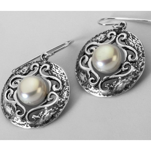 Cercei din argint - perla E2017