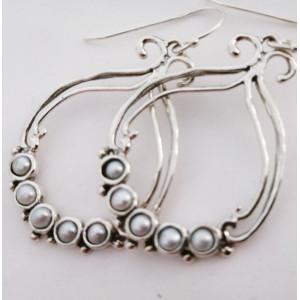 Cercei din argint- tip candelabru- E10822 -perle