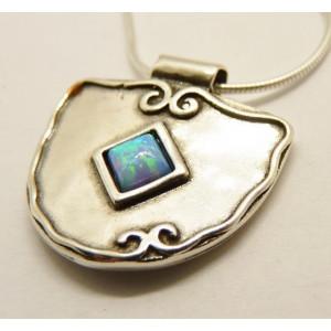Colier argint OPAL- N1907