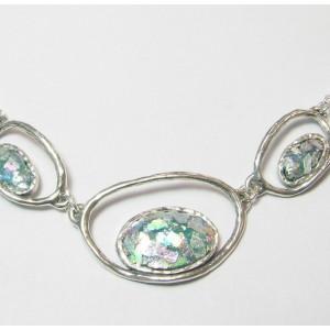 Colier argint -sticla romana -N9771-3