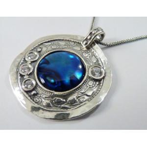 Colier din argint  abalone N2356