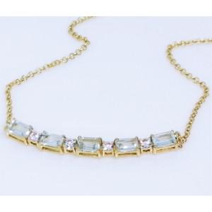 Colier Valerie -argint placat si aur - topaz VNCK033161