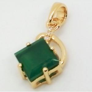 Colmar - Pandantiv argint placat cu aur galben -VP014694-onix verde