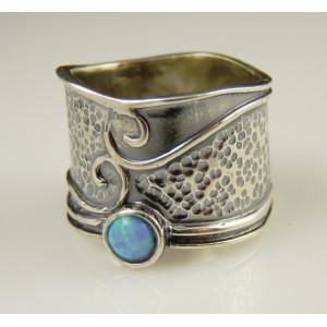 Inel argint -102683 opal