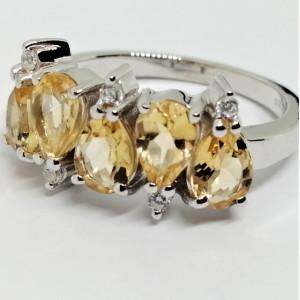 Inel argint citrin -VR014375