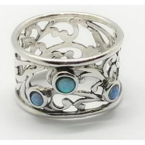 Inel argint inimioara OPAL- R3645