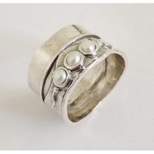 Inel argint perla R255