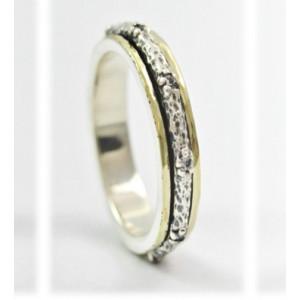 Inel argint si aur 14k -R4709- zircon