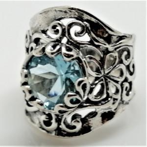Inel argint topaz R1523