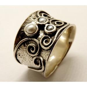 Inel din argint cu perle de cultura- R5182