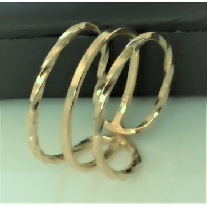 Inel REGLABIL -argint placat cu aur galben -RRG100-3