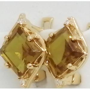Liana -Cercei argint placat cu aur si nanozultanit -VE019494