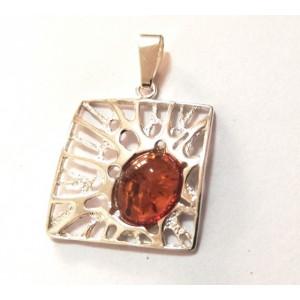 Pandantiv argint chihlimbar - P1723