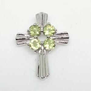 Pandantiv argint cruciulita-VP029371 peridot