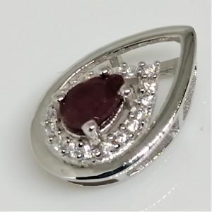 Pandantiv argint VP026951 rubin