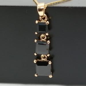 Pandantiv MARA-argint placat cu aur onix -VP06902