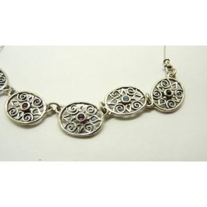 2 in 1-Colier din argint cu doua fete -OPAL SI GRANAT- N5372