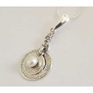 Colier argint cu perla 48N-1481
