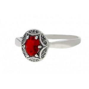 Inel argint delicat -red quartz-R416