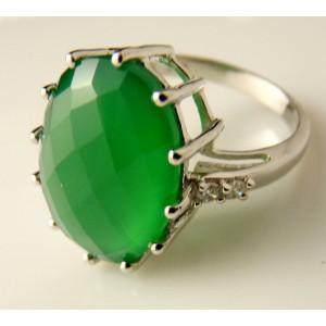 Inel argint onix verde -VR018130