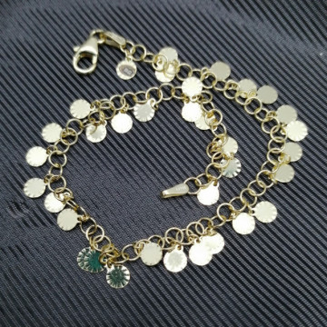 Bratara AMALFI - Bănuți- argint placat cu aur galben -BRMP1011