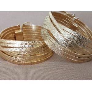 Bratara ampla -argint placat cu aur-BROM0116PL08G