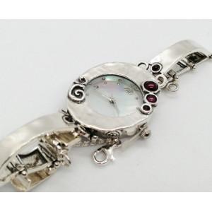 Ceas din argint si granat W3534