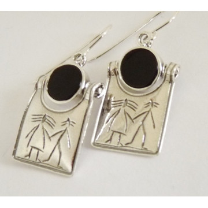 Cercei argint onix E1840