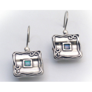 Cercei argint opal E1442