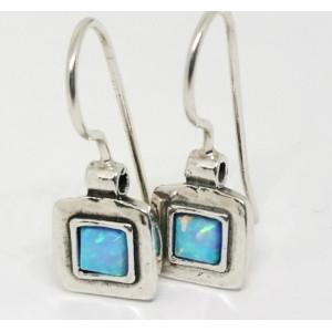Cercei argint opal E1686B
