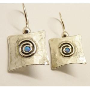 Cercei argint opal E1900B