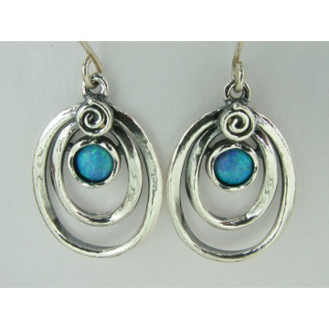 Cercei argint opal E697