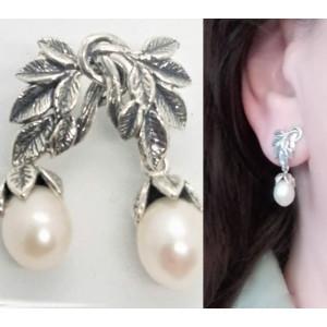 Cercei argint perla E10248