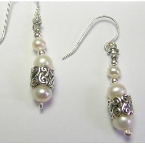Cercei argint perla E8178