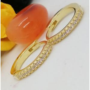 Cercei argint placati cu aur galben -E21 2196 -1905