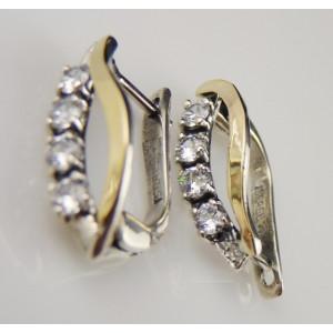 Cercei argint si aur 9k -30424 zircon