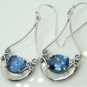 Cercei argint -topaz E9733