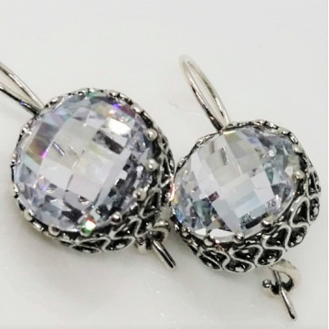 Cercei argint zircon E1766