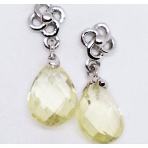Cercei delicati din argint -VE015987 lemon topaz