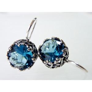 Cercei din argint blue topaz E868