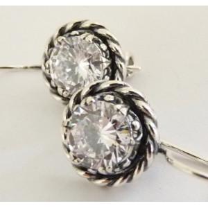 Cercei din argint E3557 zircon