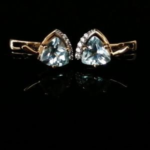 Cercei Tara -argint placat cu aur galben- VE032905-topaz